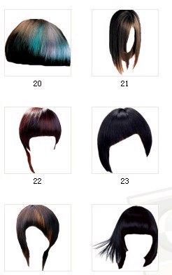 好看的发型24款-美图秀秀美容彩妆素材下载图片
